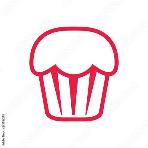 Sticker sweet cupcake dessert