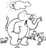 Słonik i mysz