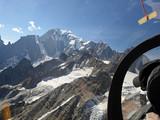 cervino Matterhorn. Aerial View from glider. Italian   Alps
