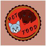 Vector illustration of a Pet Food label - 243578226