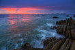Quadro Amazing beautiful Nature of Sunset Over the Sea with Twilight Sky at Sabah Borneo