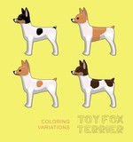 Dog Toy Fox Terrier Coloring Variations Vector Illustration - 243596898