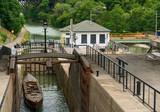 Erie Canal Locks in Lockport, NY - 243598403