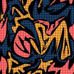 Seamless abstract modern shapes memphis pattern © fuzzyfox