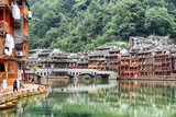 Beautiful view of Phoenix Ancient Town (Fenghuang), China - 243605203