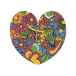 Shape of heart tangle pattern. - 243606664