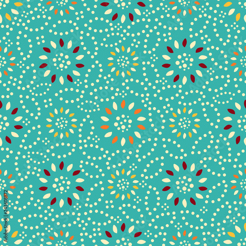 Seamless abstract pattern with geometric pattern. - 243608872