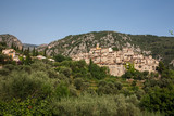 The beautiful hilltop village of Peillon in the Alpes-Maritime department of southeastern France - 243609636