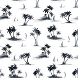 Watercolor abstract tropical vector pattern - 243621664