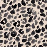 Watercolor safari jaguar vector pattern - 243622035