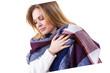 Woman wearing warm scarf