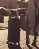 Fashion model traveling to new city - 243624670