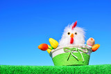 easter chicken and flowers - 243628076