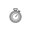Stopwatch line icon. linear style sign for mobile concept and web design. Sport chronometer timer outline vector icon. Symbol, logo illustration. Pixel perfect vector graphics