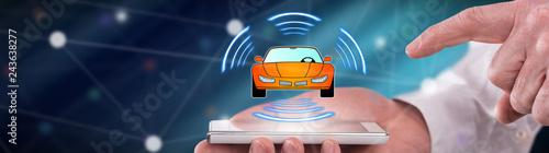 Fridge magnet Concept of smart car