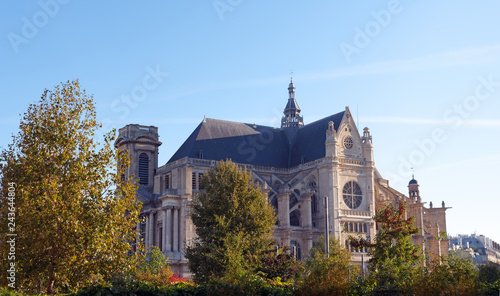 Saint-Eustache church in Paris city