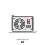 Power supply unit - Line color icon - 243647203