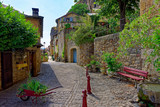 Village de Peyre, Vallée du Tran, Aveyron, Midi-Pyrénées, France