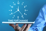 Time For Action word with clock. Business concept - 243650849