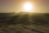 Corralejo national park sand dunes desert aerial - 243652642