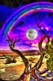 Old tree in desert landscape - 243656010