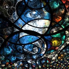 Colorful human eye abstract