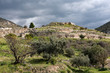 Panoramic view of the archaeological site of the Citadel of Mycenae in Peloponnese, Greece