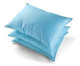Stack of Blue Pillows - 243673043