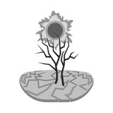 Vector design of nature and apocalypse  symbol. Set of nature and environment  vector icon for stock. - 243675858