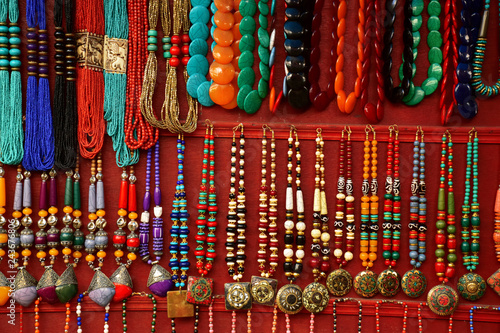 Colorful traditional necklaces © VISHU RAJENDRA YADAV