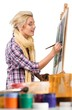 Female Painter Painting - 243677280