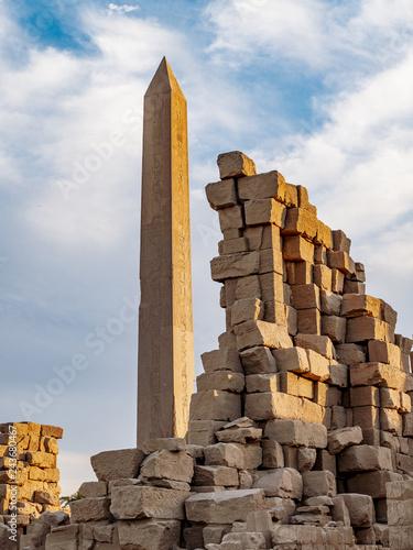Great Obelisk at Karnak Temple Luxor Thebes Egypt