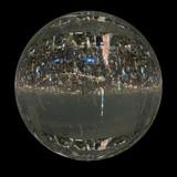 東京都市風景を球体にマッピングしたCG