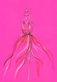 beautiful woman. fashion illustration. watercolor painting - 243684028