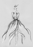 beautiful woman. fashion illustration. watercolor painting - 243684070
