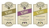collection of labels for various cider types - 243689269