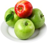 Apples on a plate - 243693443