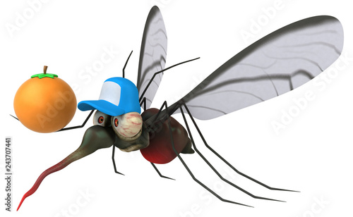 Mosquito - 3D Illustration - 243707441