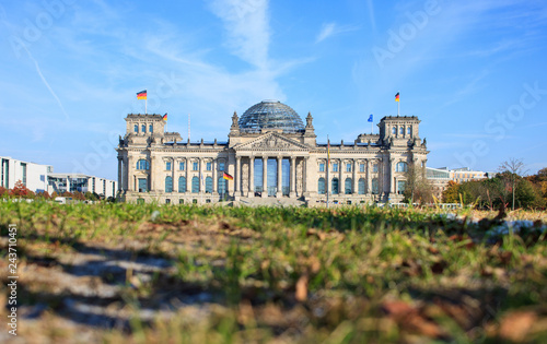 Berlin, Reichstag Building, low angle