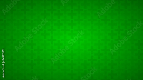 Abstract background of crosses in shades of green colors