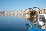 Fishing boat in Marseille Vieux Port close up - 243719263