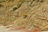 Erosion in badlands created enteresting carvings and formations.