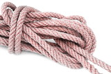 Ship rope isolated on white background, closeup - 243746493