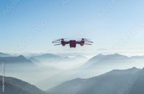 Drohne über den Bergen
