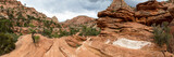 Panorama view from the Canyon Overlook Trail in Zion National Park, Utah - 243759665