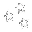 cute stars colors icons