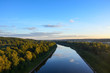 Moscow canal in the Dmitrov district of the Moscow region. Top view