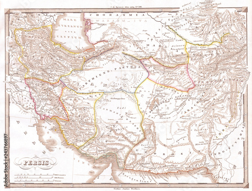 1855, Spruneri Map of Persia, Iran, Iraq, Kuwait | Buy Photos | AP