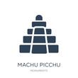machu picchu icon vector on white background, machu picchu trend