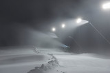 Ski slope with snow guns - 243772438
